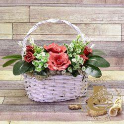 Rózsakosár - asztaldísz