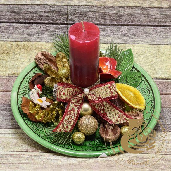 Karácsonyi tányéros asztaldísz 2