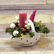 Kerámia karácsonyi kosárka 1