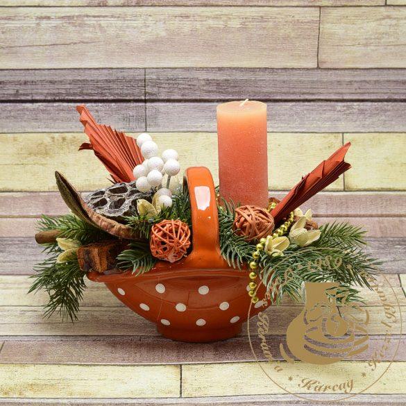 Kerámia karácsonyi kosárka 2