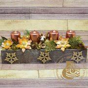 Adventi asztaldísz fa dobozban