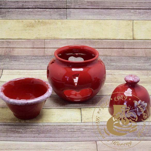 Piros kerámia almasütő