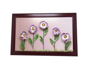 Kerámia virág fali dekoráció