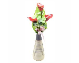 Nagy kerámia virág
