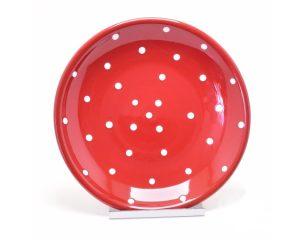 Pöttyös kerámia tányér - Pöttyös kerámia tál